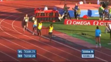 Ethiopian Yenew Alamirew Wins Mens 5000m - IAAF Diamond League Oslo 2014