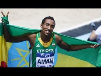 Mohammed Aman wins 800m Final in 1:46.40 IAAF World Indoor Championships 2014