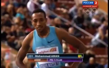 Mohammed Aman Wins 600m Mens Russian Winter Race With A Time Of 1:15:31