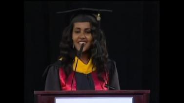 Ethiopian Student Aden Abiye's Speech at the 2014 Masters Commencement at University of Maryland