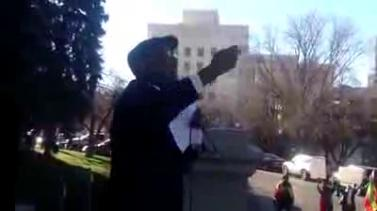 Artist Ayalew Mesfin's emotional speech at Stop Violence Against Ethiopians protest in Denver Colora