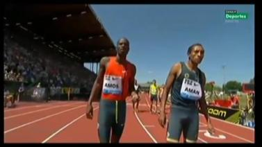Mohammed Aman Gets Second Place In 800m - Diamond League Eugene 2014