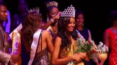 EBS Whats New አዲስ ነገር - Ethiopian Meron Wudneh Crowned Miss Africa USA 2014