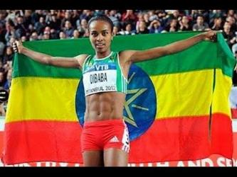 Genzebe Dibaba wins Gold Women's 3000m at IAAF World Indoor Championships 2014