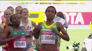 Moscow 2013 - Genzebe Dibaba Qualifies for Women's 1500m Final