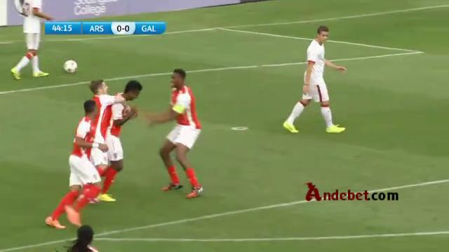 Watch Gedion Zelalem Score an Amazing goal for Arsenal U19 vs Galatasaray U19   20 Oct 2014