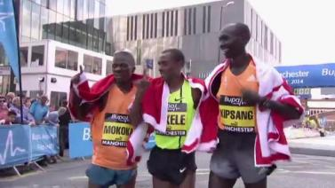 Kenenisa Bekele and Tirunesh Dibaba win 2014 Great Manchester Run