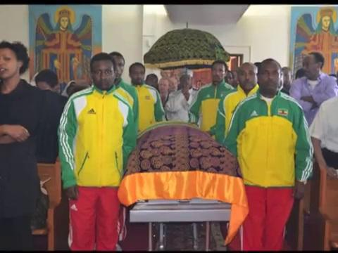 Athlete Meskerem Legesse Funeral Service held in New York