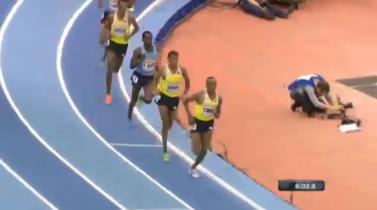 Ethiopians Dominate Men's 3000 Meters Final In British Athletics Grand Prix - Birmingham,England